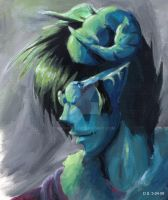 Blue and Green Demon Jacquo by NikaGika