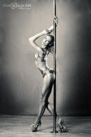 Pole dancer by matroskinarh