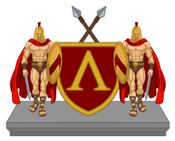Coat of Arms of Sparta by CoralArts