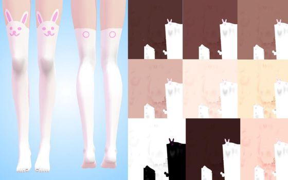 texture stockings (rabbit) for TDA MMD by NekaSan