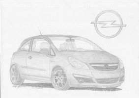 Opel Corsa D by Drawer88