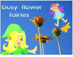 busy flower fairies by Child-Of-Neglect