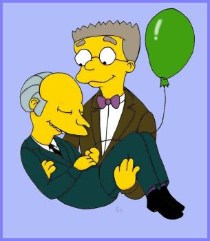 Mr. Burns and Smithers. by BUBBLE89