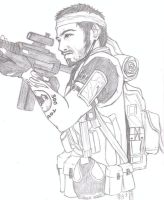 Black Ops: Frank Woods sketch. by STAR-mii