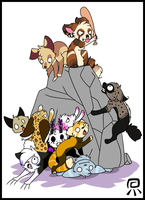 Chibi Pile Up! by ForeverFrosty