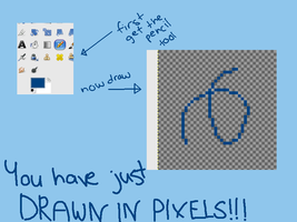 How to draw in pixels!! by CatsInBlack