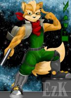 Fox McCloud guardian del espac by t-bone-0