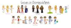 Groups Of Demigods/Spirits by MadieKristineC