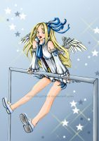 angel trainee Flonne by SophieBrigitteXD