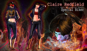 Claire Redfield: Special Biker (RE2 Bonus Costume) by ViCt0RXD