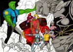 savage dragon and freak force vs badrock by fernandochapado