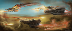 Desert Scout Ships - Skirmish by Kritzlof