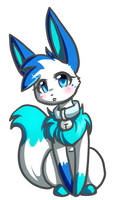 Freeze the eevee 2 chibi doodle by Freeze-pop88