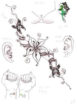 tattoos and piercings by happyhippybassist