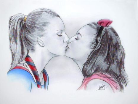 brittana glee by karlyilustraciones