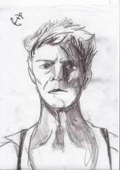 Charcoal Bowie by DooAddams