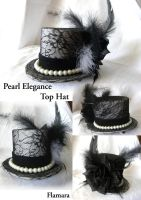 Pearl Elegance Top Hat by flamarahalvorsen