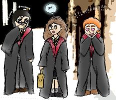 Mocking Hermione - coloured by isnani