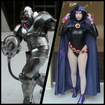 Raven and Cyborg (Teen Titans DragonCon 2013) by AkatsukiAkuma53421