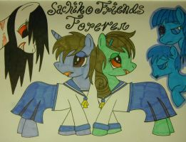 Corpse Party Ponies by Oceanblue-Art