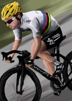 Mark Cavendish, quick paint by BecciES