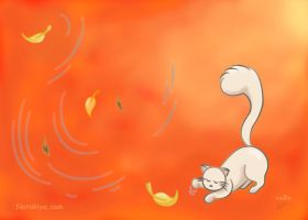 Kitty In Fall wallpaper by Natakiya