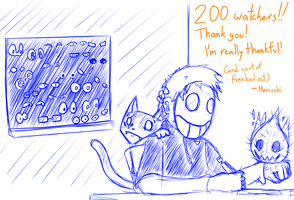 Thanks for 200 watchers :D by Memoski