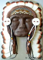 Native Indian man by ginas-cakes