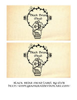 Skyrim Black briar mead label by emptysamurai