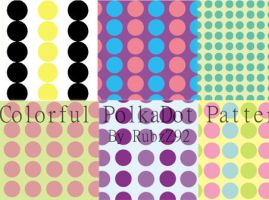 Colorful polkadot patterns by backgroundsfind