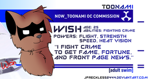Toonami OC Commission: Wish by JPReckless2444