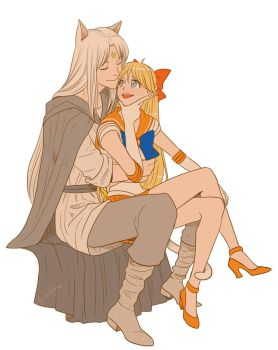 Sailor Venus and Artemis by lisGinka