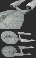 'Star Trek' USS Enterpside NCC 1701-A WIP by lezisell