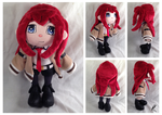 Makise Kurisu Plush Commission by DizzieDoodles