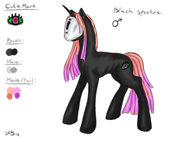 MLP OC: Black Spectre by SilverRacoon