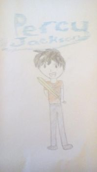 Percy Jackson son of Poseidon by crystalocean756