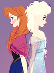 Anna and Elsa by snarkies