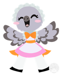 Meido Pigeon by ScribbleKnight