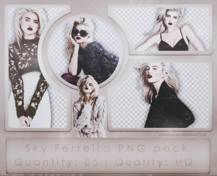Sky Ferreira PNG Pack by cawllin