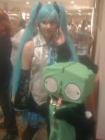 Miku hatsune and gir by theminky