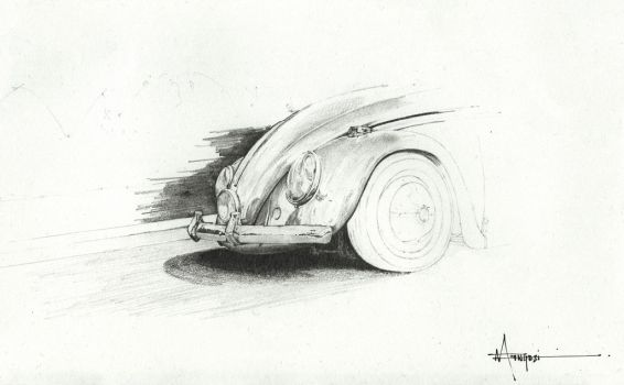 Old School Beetle by ndengezi
