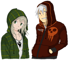 Soul and Maka - Soul Eater by AgryX