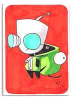 GIR sketch cards card 1 by chrisfurguson
