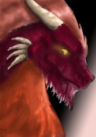 Red Hairy Drake by Kopale