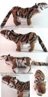 Tiger Stuffed Animal by AnimalArtKingdom