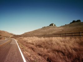 Desert Road - California by martinemes