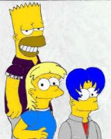 1999: Bart, Maggie, and Eric by simpspin