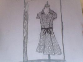 Dress drawing for BeanieBoo-Emii by TeslaSong