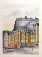Edinburgh's Castle South Face by Schnellart