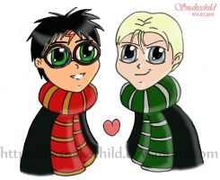 Drarry chibis by thesnakechild